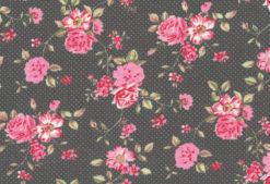 Westfalenstoffe Rosenborg Blumen anthrazit