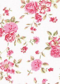 Westfalenstoffe Rosenborg Blumen weiss