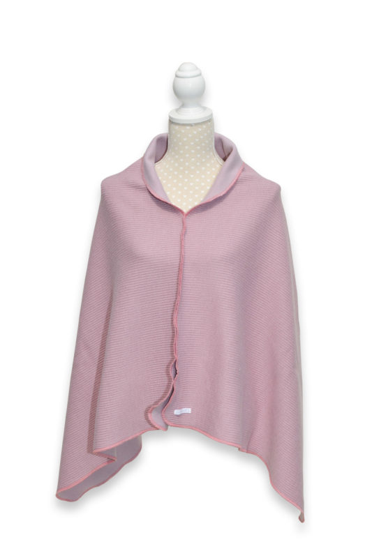 Lieblingsponcho Wollponcho rose