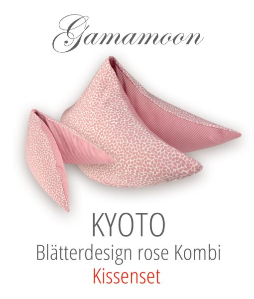 Gamamoon Kissenset Kyoto Blaetterdesign rose Kombi