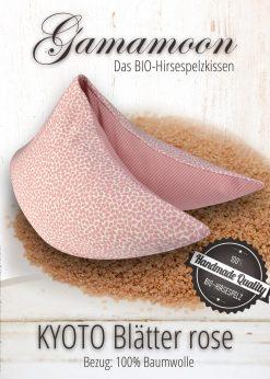 Gamamoon Nackenkissen Blaetterdesign rose Kombi