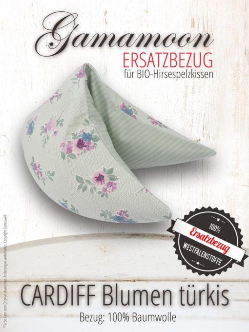 Ersatzbezug Gamamoon Cardiff Blumen türkis