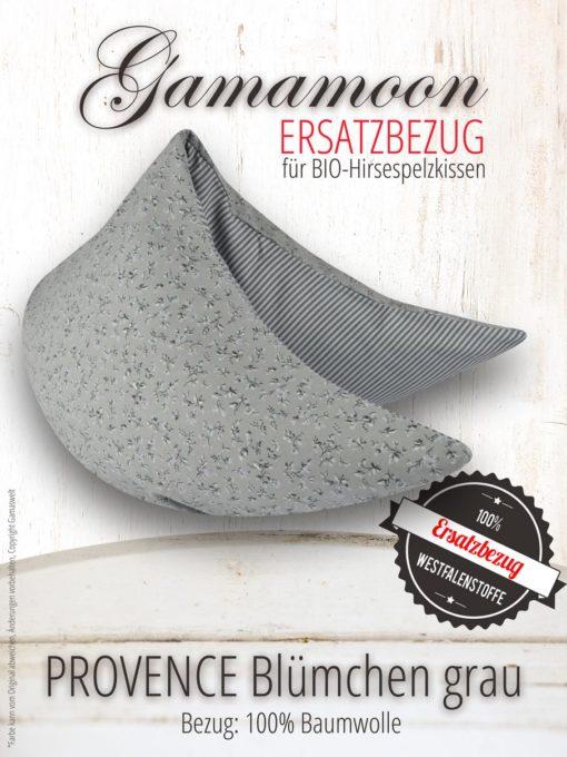 Ersatzbezug Gamamoon Provence Bluemchen grau