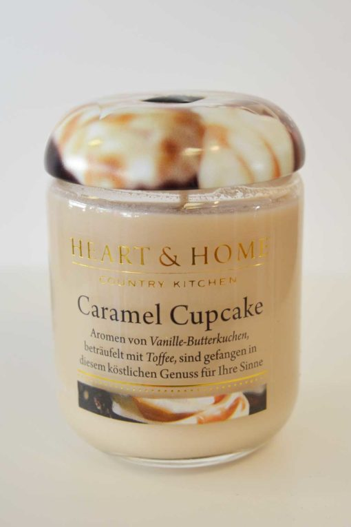 Heart & Home Caramel Cupcake 115g Glas