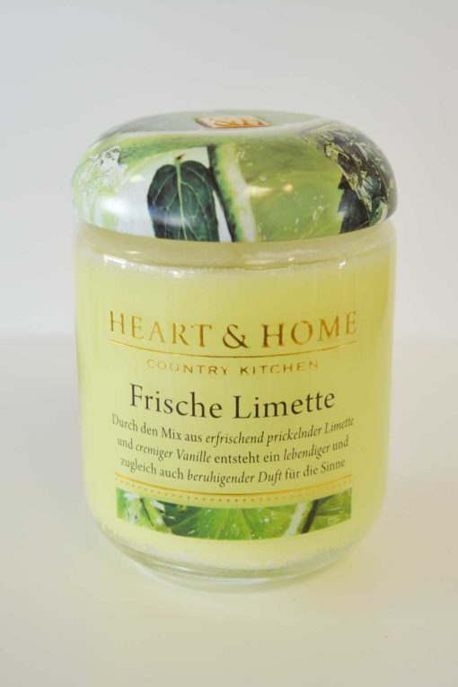 Heart & Home Frische Limette 115g Glas