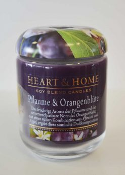 Heart & Home Pflaume Orangenblüte Glas 115g