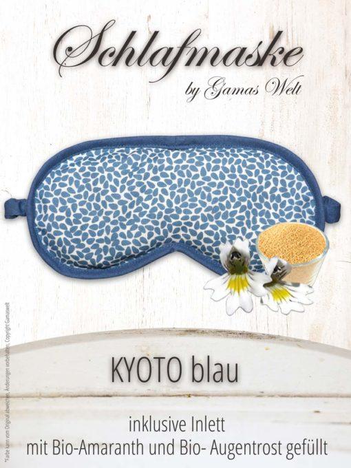 Gamaswelt Schlafmaske Kyoto blau