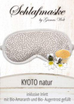Gamaswelt Schlafmaske Kyoto natur