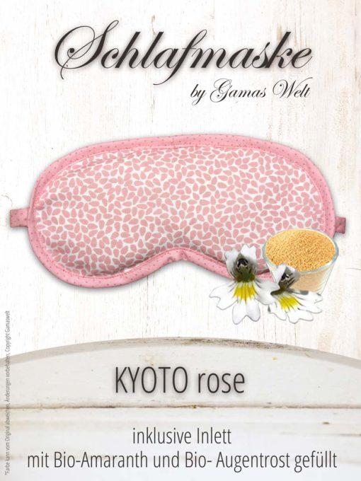 Gamaswelt Schlafmaske Kyoto rose