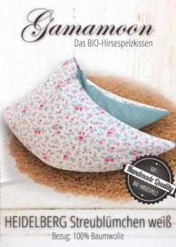 Gamamoon Hirsekissen Heidelberg Streubluemchen weiss