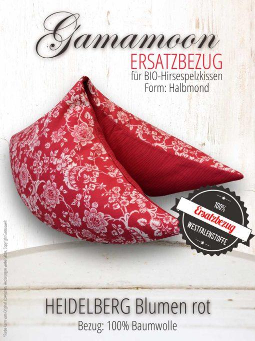 Gamamoon Ersatzbezug Heidelberg Blumen rot