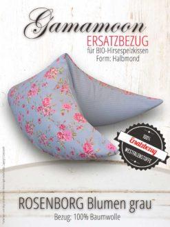 Gamamoon Ersatzbezug Rosenborg Blumen grau