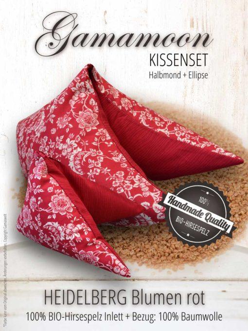 Gamamoon Kissenset Heidelberg Blumen rot