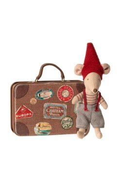 Maileg Christmas Mouse in a Suitcase. Little Brother