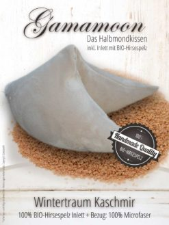Gamamoon Wintertraum Kaschmir Hirsespelzkissen Halbmond
