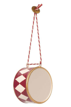 Maileg Metal Ornament large Drum red