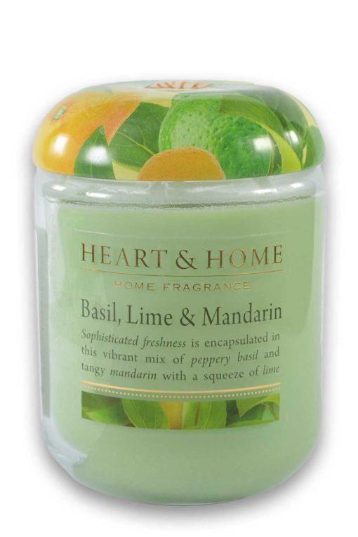 Heart and Home Basilikum Limette Mandarine 340g Glas