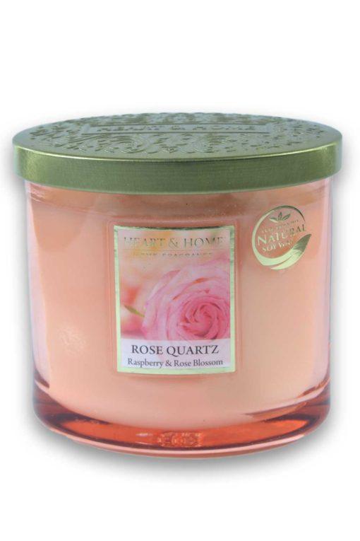 Heart and Home Rose Quartz 230g Oval Glas