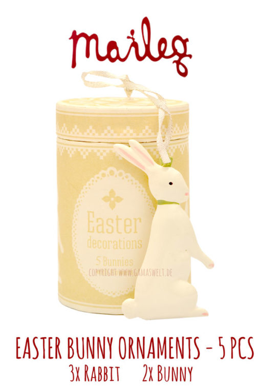 Maileg Easter Bunny Ornaments 5PC