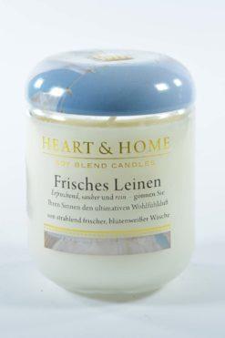 Heart And Home Duftkerze Frisches Leinen 115g im Glas