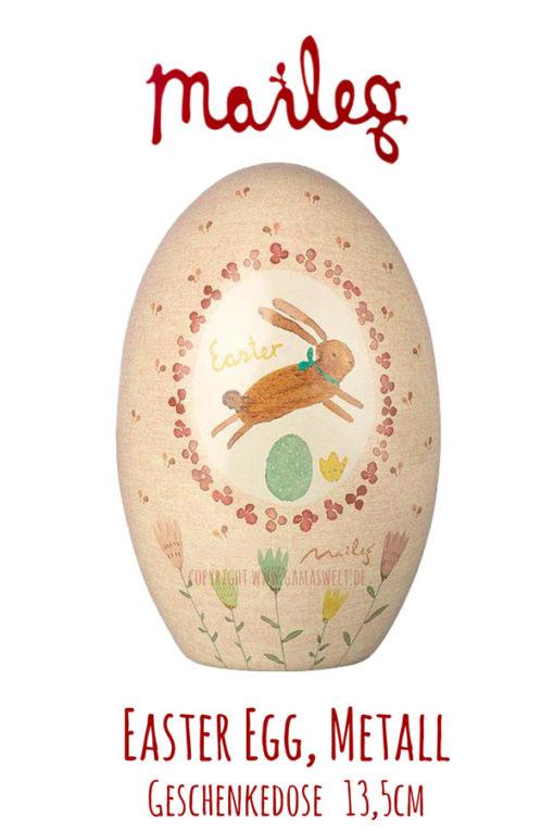 Maileg Easter Egg Metall. rot