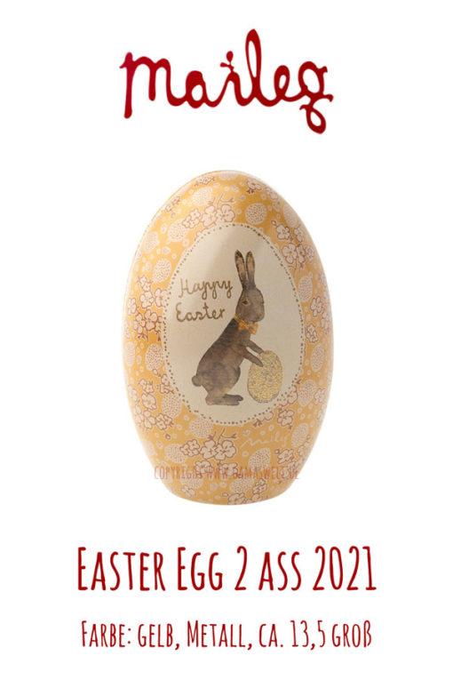 Maileg Easter Egg 2 ass gelb