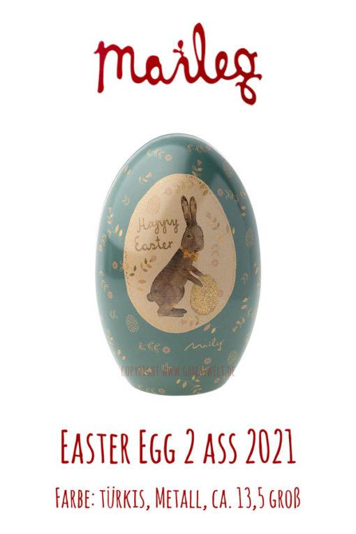 Maileg Easter egg 2 ass türkis